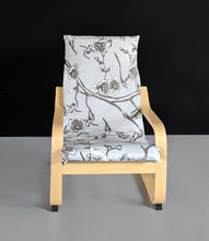 Load image into Gallery viewer, Gray Patchwork Flower Print IKEA KIDS POÄNG Slipcover