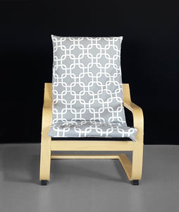 Geometric Gray IKEA KIDS POÄNG Cushion Slip Cover