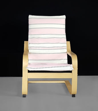 Pink Stripe Girls Ikea Kids Poang Chair Cover,  Ready to Ship