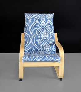 Damask Floral Blue IKEA KIDS POÄNG Cushion Slipcover