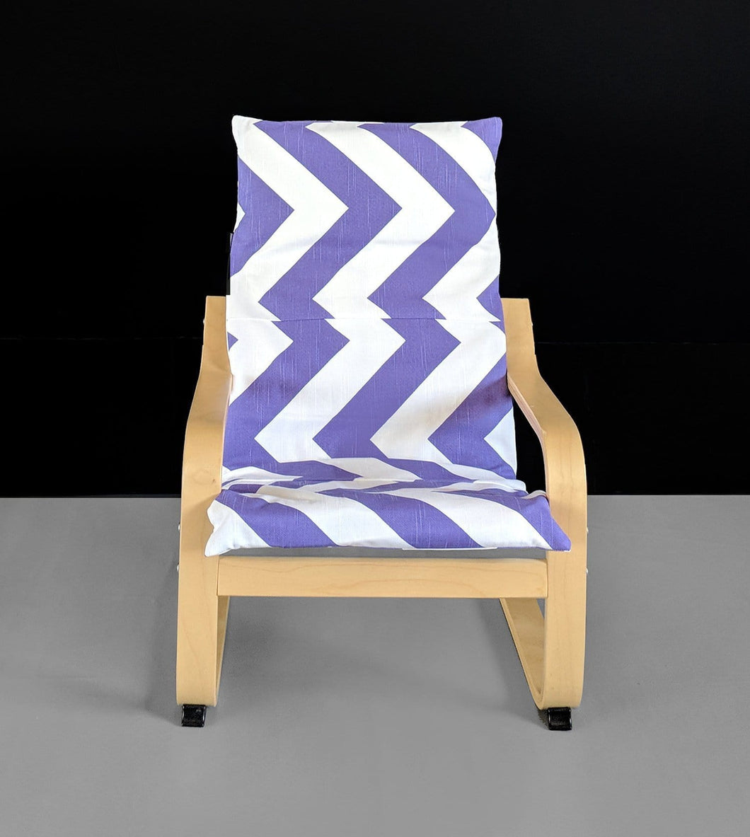 Purple Chevron IKEA KIDS POÄNG Cushion Cover