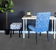 Load image into Gallery viewer, Shibori Indigo Blue Tribal Print, IKEA Stool Seat Cover
