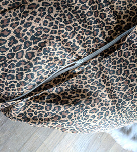 Ikea Floor Pillow Covers, Ikea Dihult Covers, Leopard Animal Print Slipcover