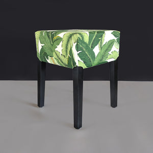 IKEA Stool Cover Tropical Green Palm Leaves