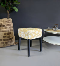 Load image into Gallery viewer, Indian Saffron Yellow Beige Ikat IKEA Seat Cover