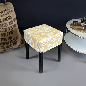 Indian Saffron Yellow Beige Ikat IKEA Seat Cover