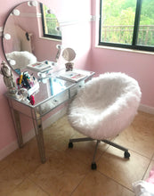 Load image into Gallery viewer, IKEA White Fur SKRUVSTA Chair Slip Cover