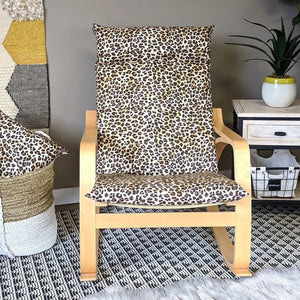 Leopard Animal Print IKEA POÄNG Cushion Slipcover