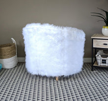 Load image into Gallery viewer, White Fur Custom IKEA TULLSTA Chair Slip Cover