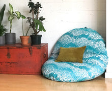 Load image into Gallery viewer, Pouf Cover, Dog Bed Cover, IKEA Dihult Slipcover, Floor Pillow Covers, Indian Turquoise Blue