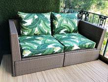 Load image into Gallery viewer, IKEA OUTDOOR Palm Leaves Slip Cover, Ikea Cushion Covers, Custom Ikea Decor, Bespoke Arholma Covers, Tommy Bahama Swaying Palms