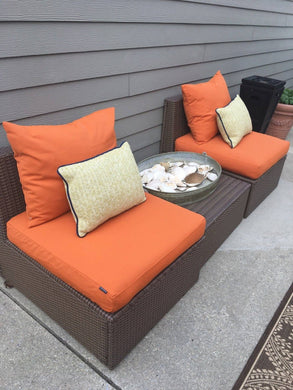 Sunbrella IKEA OUTDOOR Slip Cover, Ikea Cushion Covers, Custom Ikea Decor, Bespoke Arholma Covers, Tuscan Solid Orange