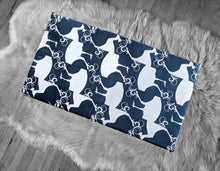 Load image into Gallery viewer, Navy Bird Animal Print IKEA Bench Pad Slip Cover