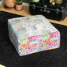 Load image into Gallery viewer, Ottoman Cover, Colorful Dot Print Floor Pouf Cover, Bean Bag Slip Cover