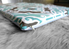 Load image into Gallery viewer, IKEA HEMMAHOS Bench Pad Slip Cover, Blue Brown Moroccan Print