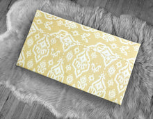Load image into Gallery viewer, Yellow Ikat Indian Print IKEA STUVA Bench Pad Slip Cover