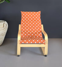 Load image into Gallery viewer, Kids Orange Polka Dot Ikea Poang Chair Cover