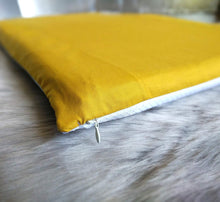 Load image into Gallery viewer, Solid Mustard Gold IKEA Window Seat Cushion Cover