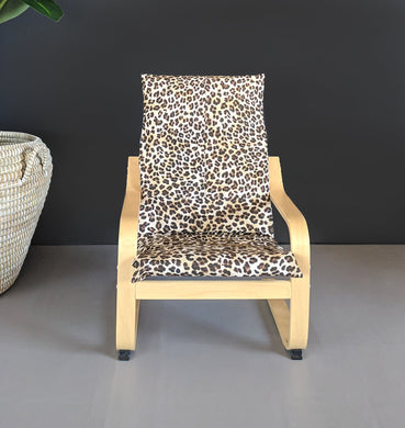 Jungle Leopard Animals Kids Ikea Poang Seat Cover, Ikea Nursery Room Decor