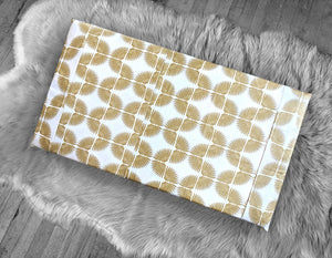 Metallic Gold Tribal Pattern, IKEA STUVA Bench Pad Slip Cover