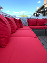Load image into Gallery viewer, IKEA OUTDOOR Slip Cover, Ikea Cushion Covers, Custom Ikea Decor, Bespoke Arholma Covers, Sunbrella Red