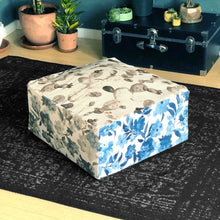 Load image into Gallery viewer, Floor Pouf Cover, Ottoman Seat Cover, Multicolor Floral