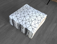 Load image into Gallery viewer, Pouf Cover, Ottoman Seat Cover, Neutral Tones