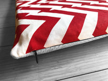 Load image into Gallery viewer, Red Elephant, Chevron IKEA Hemmahos Bench Pad Slip Cover, Patchwork