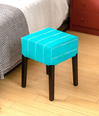 IKEA Nils Stool Seat Cover, Ocean Turquoise Blue Dot Print