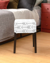 Load image into Gallery viewer, Tribal Arrows Gray Cover for IKEA Nils Stool