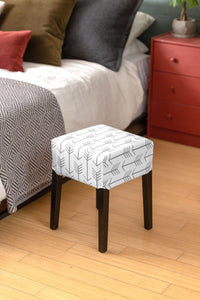 Tribal Arrows Gray Cover for IKEA Nils Stool