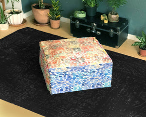 Ottoman Cover, Colorful Dot Print Floor Pouf Cover, Bean Bag Slip Cover