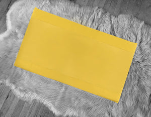 Solid Mustard Gold IKEA Window Seat Cushion Cover