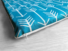 Load image into Gallery viewer, Turquoise Blue Arrow Print, IKEA STUVA Bench Pad Slip Cover