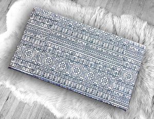 Navy Blue Mexican Pattern, IKEA STUVA Bench Pad Slip Cover