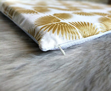 Load image into Gallery viewer, Metallic Gold Tribal Pattern, IKEA STUVA Bench Pad Slip Cover