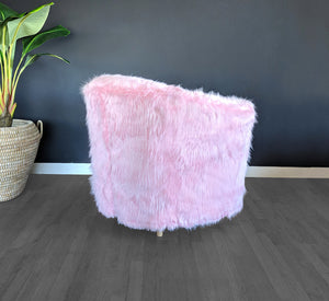 IKEA TULLSTA Chair Slip Cover, Baby Pink Fur