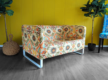 Load image into Gallery viewer, IKEA Sofa Slip Cover for KNOPPARP, Vintage Floral Damask, Mexican Adobe Print