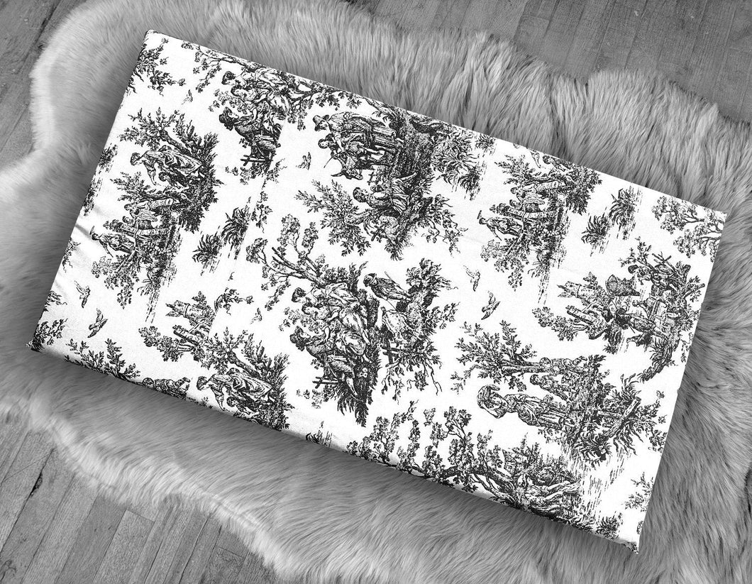 Farmhouse French Toile, IKEA STUVA Bench Pad Slip Cover