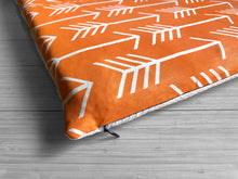 Load image into Gallery viewer, Orange Arrow Print, IKEA STUVA Bench Pad Slip Cover