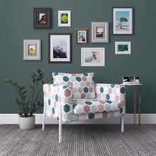 Load image into Gallery viewer, IKEA KOARP Armchair Covers, Jewel Tones, Pink, Teal, Green Hexagon Chair Cover