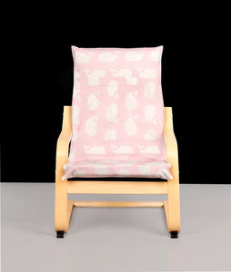 Pink Whale Patchwork Kids Poang Seat Cover