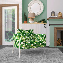 Load image into Gallery viewer, IKEA KOARP Armchair Covers, Green Banana Leaf Jungle Print Chair Cover