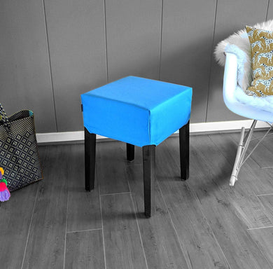 Solid Blue IKEA Nils Stool Seat Cover