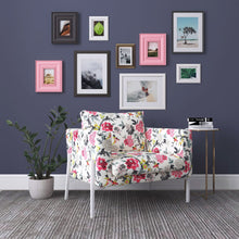 Load image into Gallery viewer, IKEA KOARP Armchair Covers, White Red Floral Chair Cover