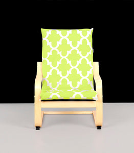 Lime Green IKEA KIDS POÄNG Cushion Slipcover, Custom Ikea Poang Chair Cover