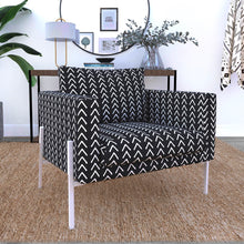 Load image into Gallery viewer, IKEA KOARP Armchair Covers, Arrows Tribal Print, African Ikea Decor, Black Boho Indoor Mudcloth Chair Cover