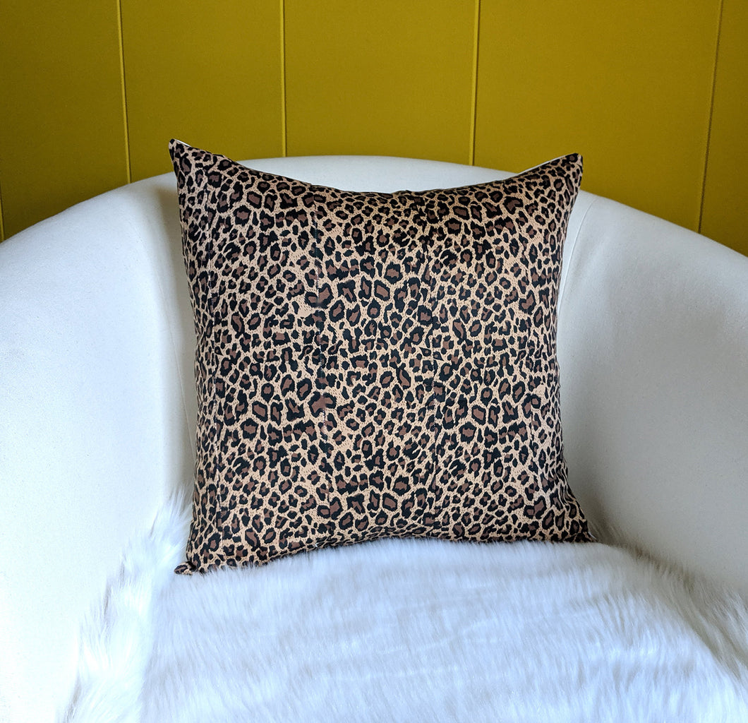 "Leopard Animal Print Pillow Cover 18"" x 18"""