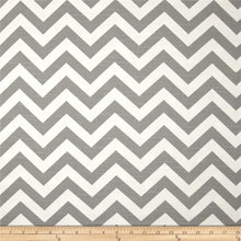 "Load image into Gallery viewer, Pillow Cover - Grey Chevron 18"", Ready to Ship"