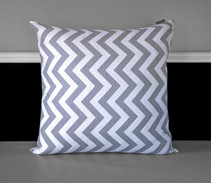 "Pillow Cover - Grey Chevron 18"", Ready to Ship"